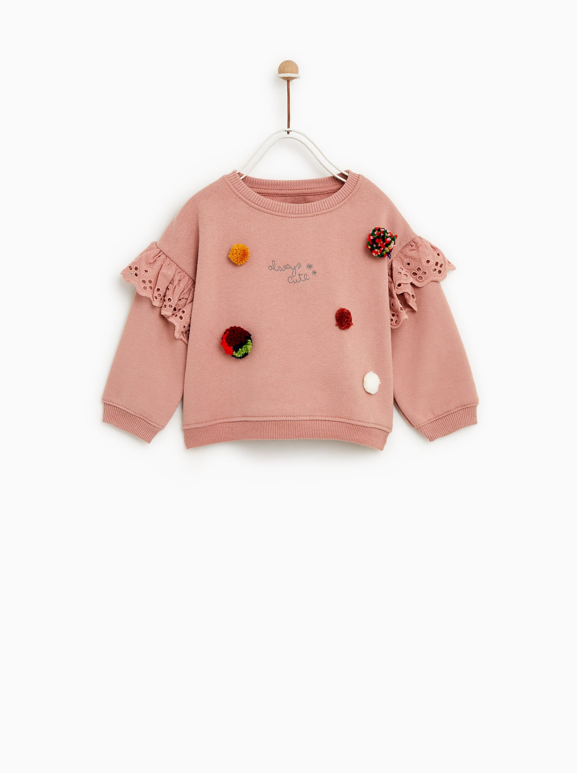 866d004c13 Image 1 of POMPOM SWEATSHIRT from Zara | bby clothes | Childrens ...