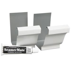 6 In White Gutter Seamers 2 Pack 47008 At The Home Depot Gutter Home Depot Protecting Your Home