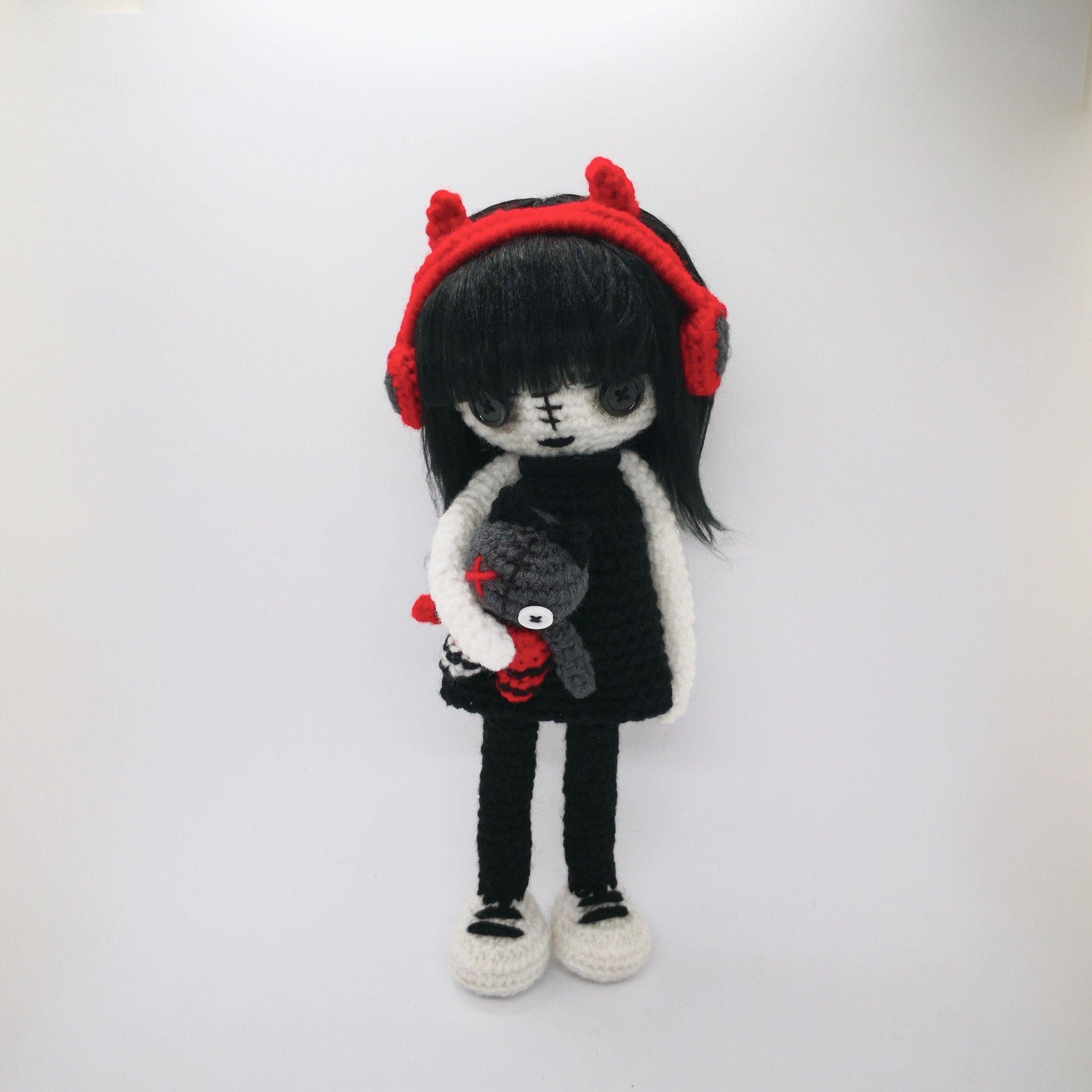 Goth Bunny - Crochet Pattern Amigurumi - Punk Plush Doll - Digital ... | 2333x2333
