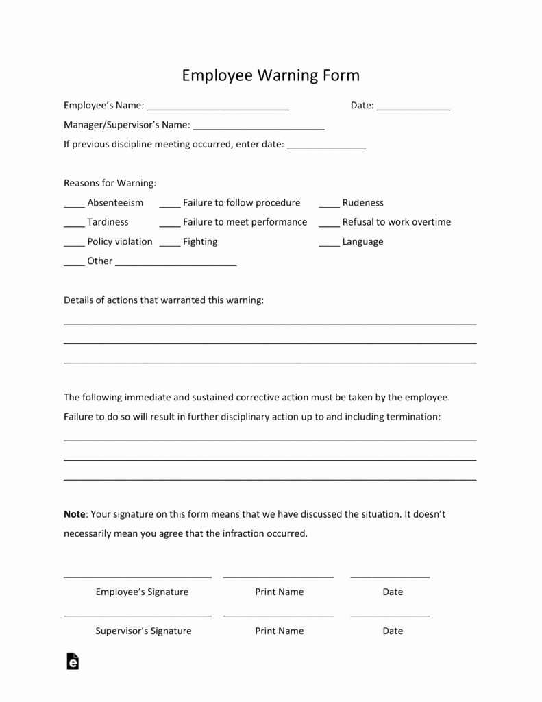 Free Printable Employee Write Up Form New Free Employee Warning Notice Template Pdf Business Template Templates Word Template