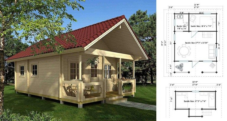 Timberline 483 Square Foot Cabin Kit Cabin Kits Small House Tiny House