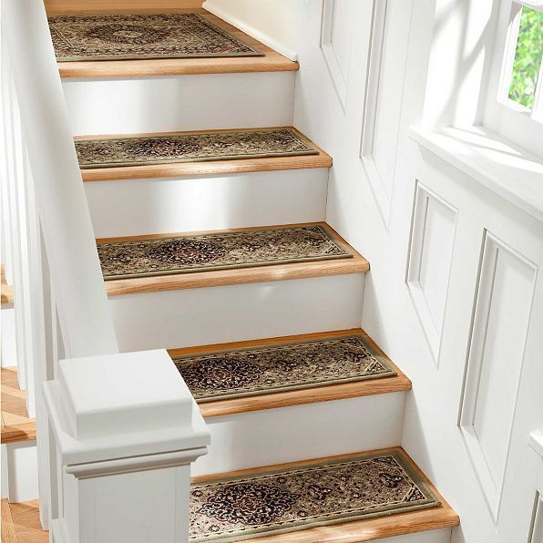 Best 36 Stair Treads Set Of 4 Green Mosaic Low Profile Persian 400 x 300