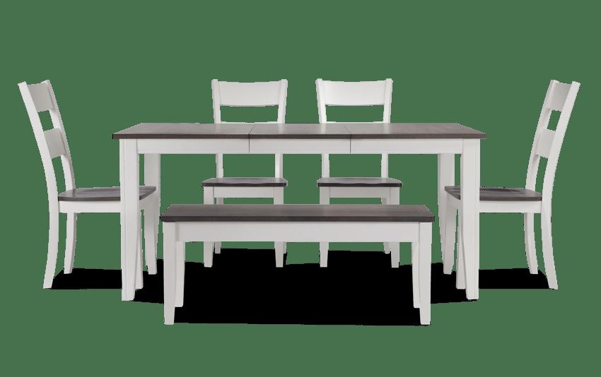 Terrific Blake Cherry Black 6 Piece Dining Set With Storage Bench Ibusinesslaw Wood Chair Design Ideas Ibusinesslaworg
