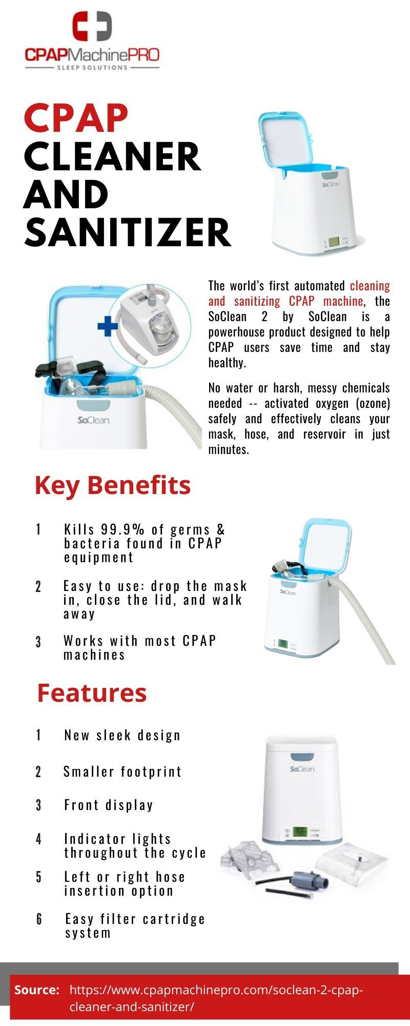 Soclean 2 Cpap Cleaner And Sanitizer Cpap Cleaning Cpap Sanitizer