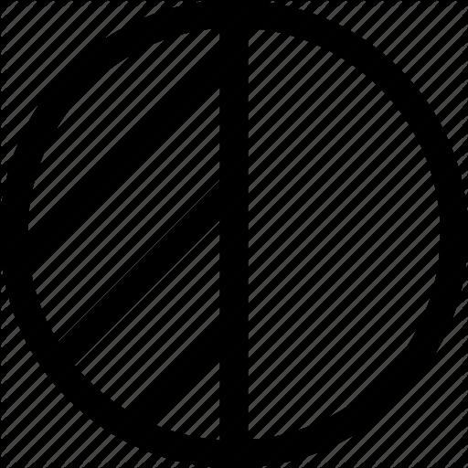 Circle Geometric Half Highlight Shape Icon Download On Iconfinder Icon Geometric Circle