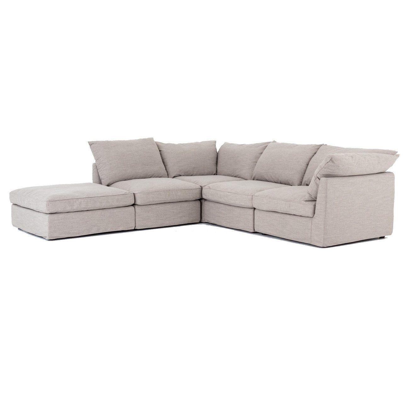 Best Paul Coastal Grey 5 Piece Modular Sectional Sofa Sofas 400 x 300