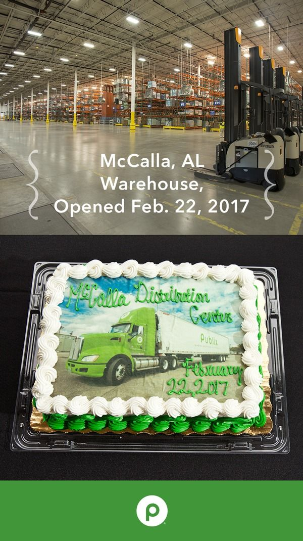 Publix built our first warehouse in 1951 in Lakeland