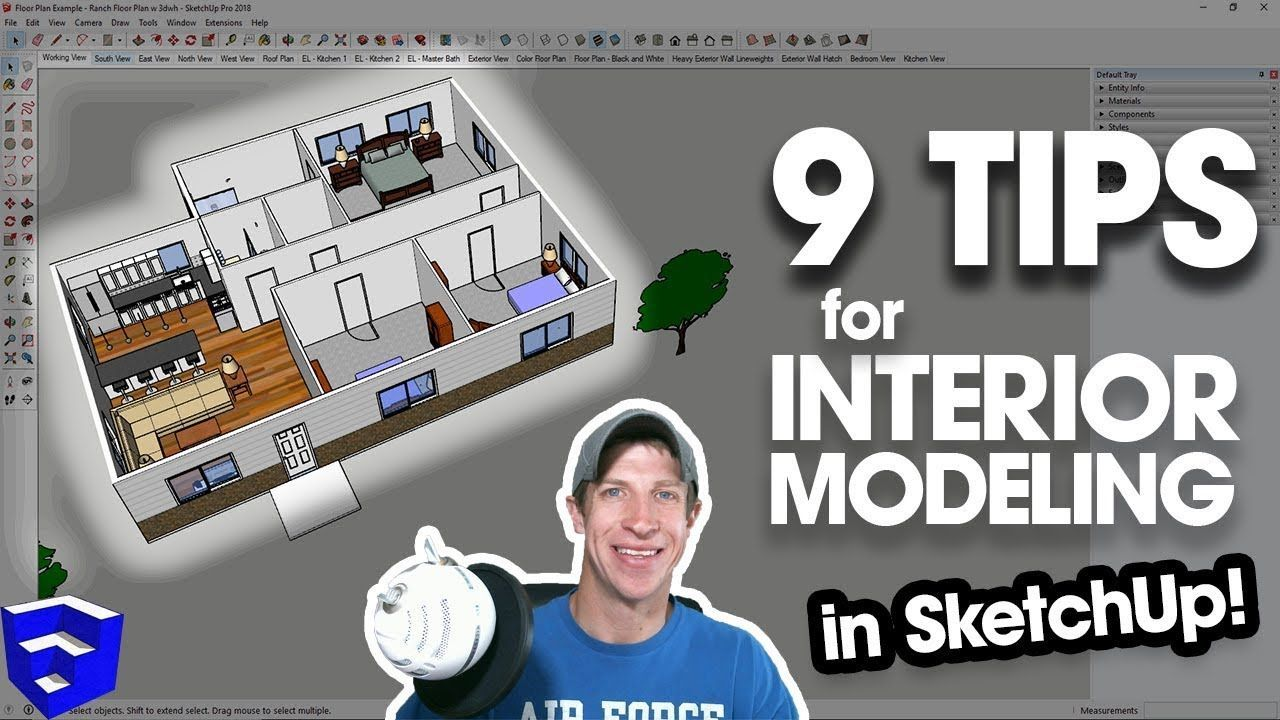 9 Tips For Modeling House Interiors In Sketchup Model Homes