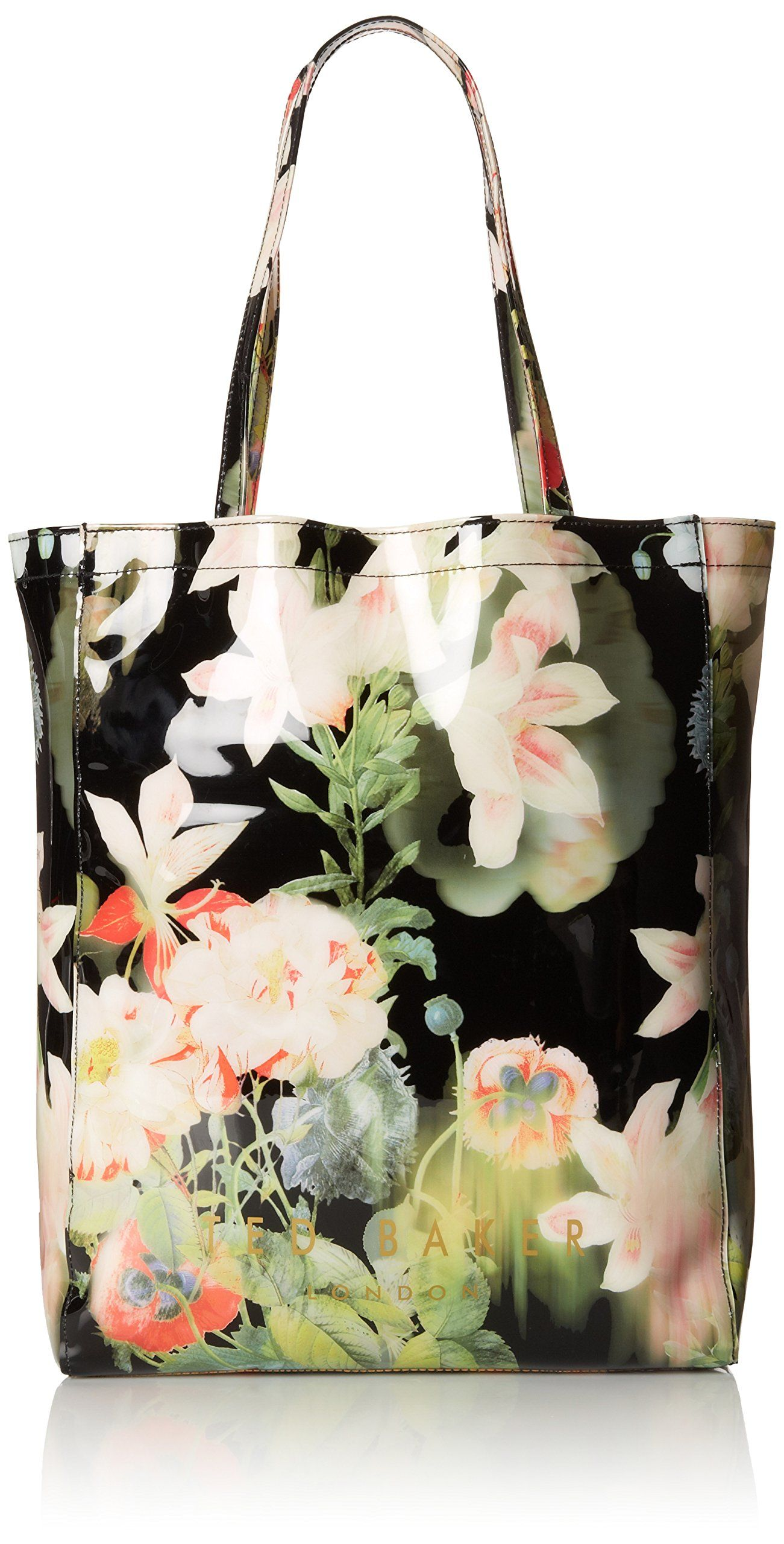 b8a45844453 Ted Baker Opulent Bloom Print Icon Shoulder Bag,Black | Amazon Deals ...