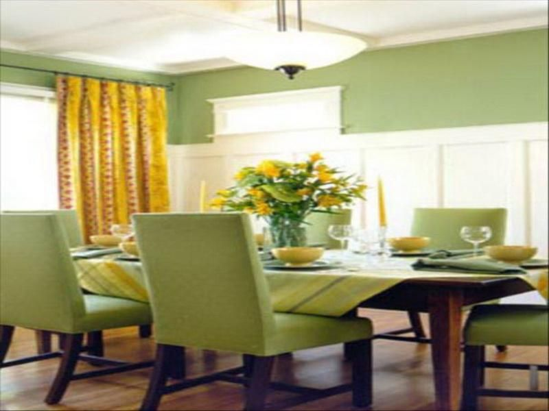 Amazing Minimalist Creekside Green Dining Room Decor Plans | Dining ...