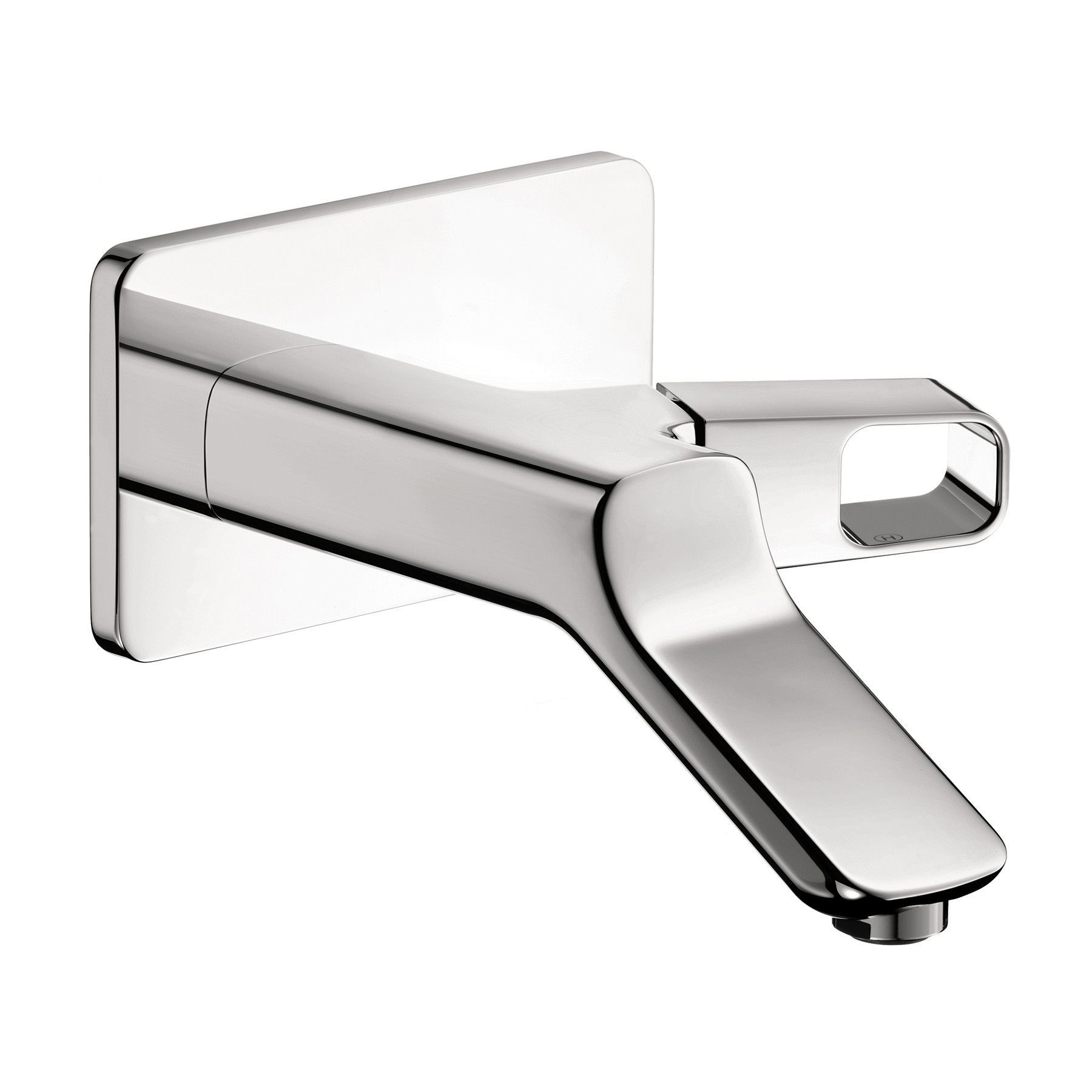 with mount wall faucets nickel brushed faucet citterio lever axor m bathroom pin hansgrohe handle