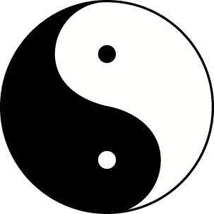Yin Yang Yung Balance Triad Tshirt