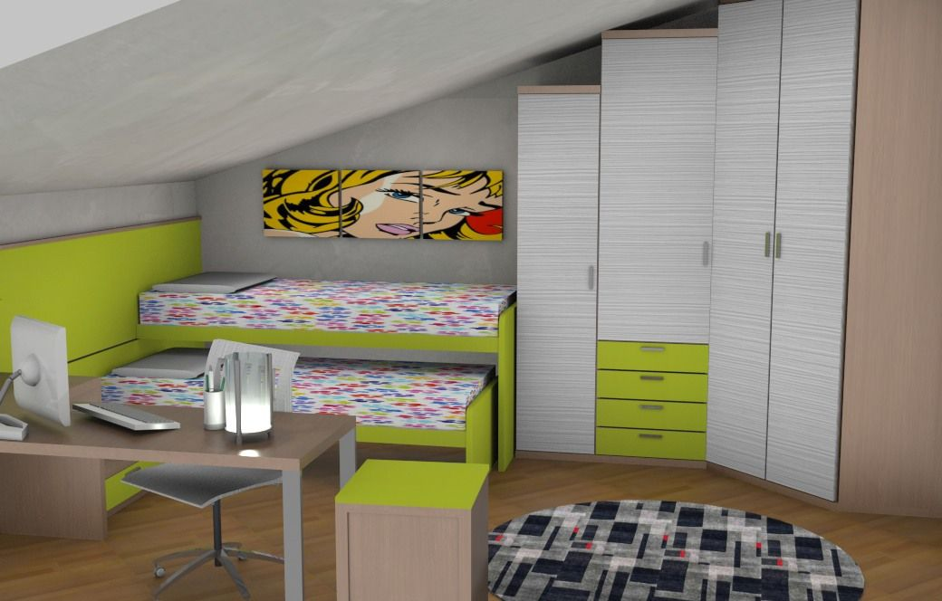 Stanza Bambini ~ Cameretta bambini bedroom doimo city line camera bambini