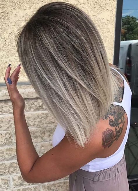 Browse Here For Best Variations Of Beautiful Medium Length Balayage And Blonde Hairstyles To Get Most Stunning H Hair Styles Blonde Haircuts Medium Hair Styles
