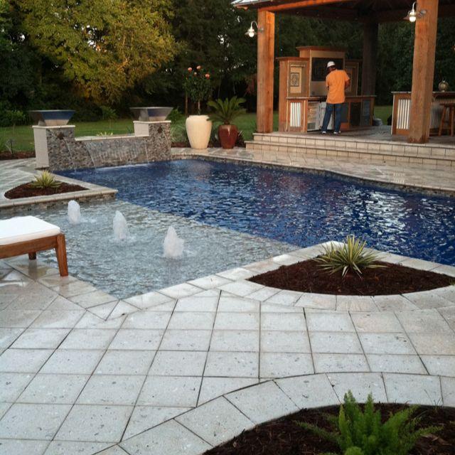 Cajun Pools & Spas Leisure Fiberglass Pool | Backyard pool ...