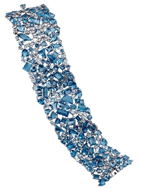 Michael John Jewelry #aquamarine and #diamond bracelet #brittspick #blue