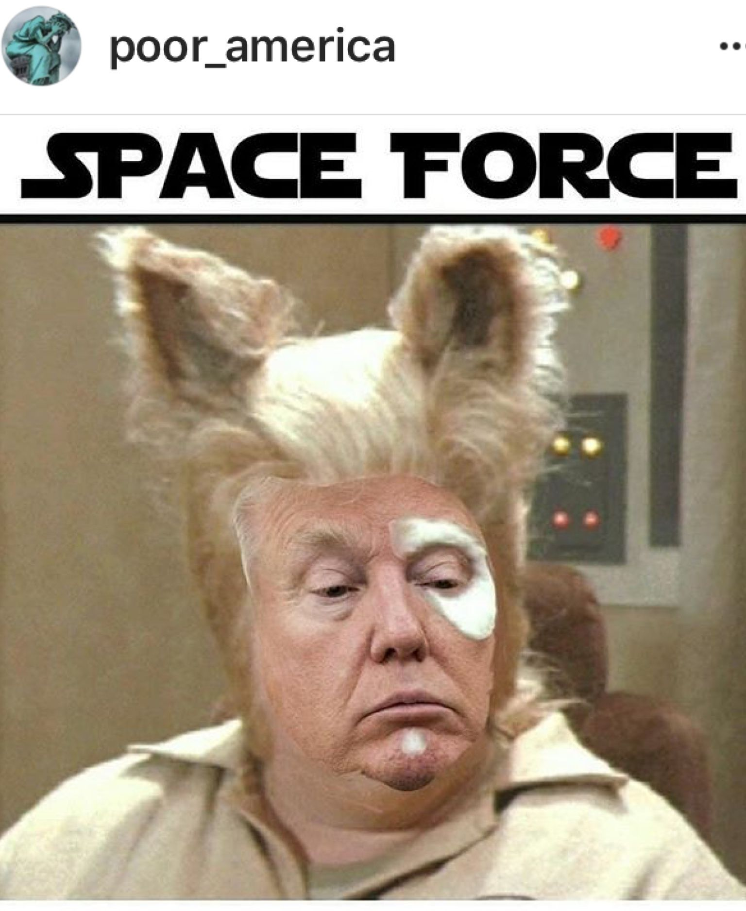 This Bubble Butt, Lying Simpleton Wants A Space Army Now