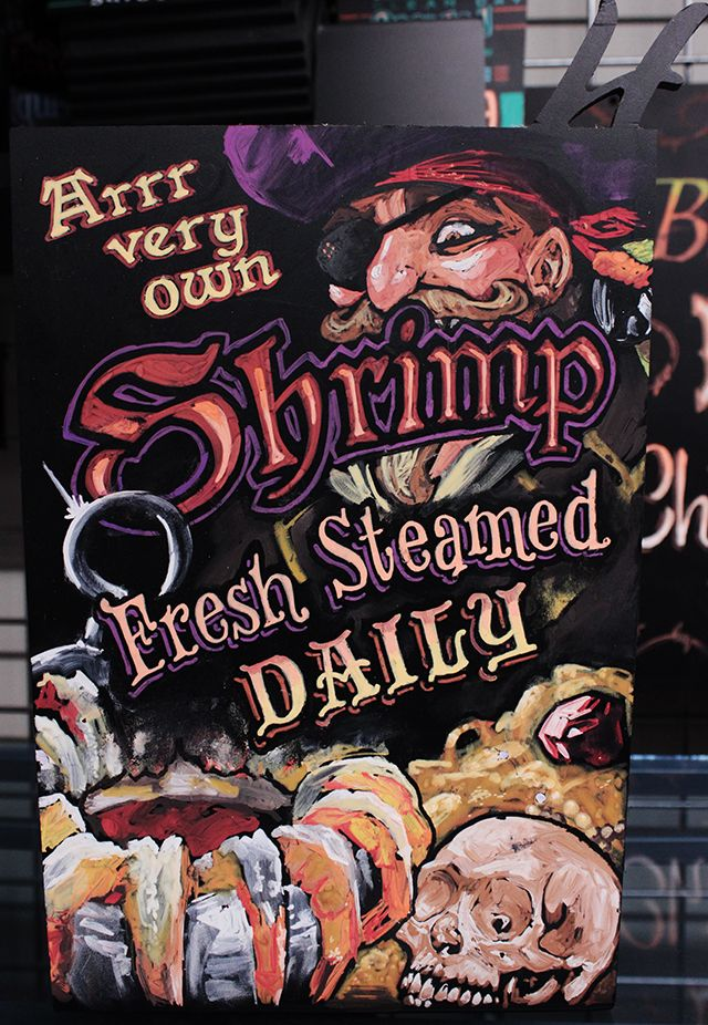 Nothin' says seafood like a PIRATE!...contact me at alchemyillo@gmail.com