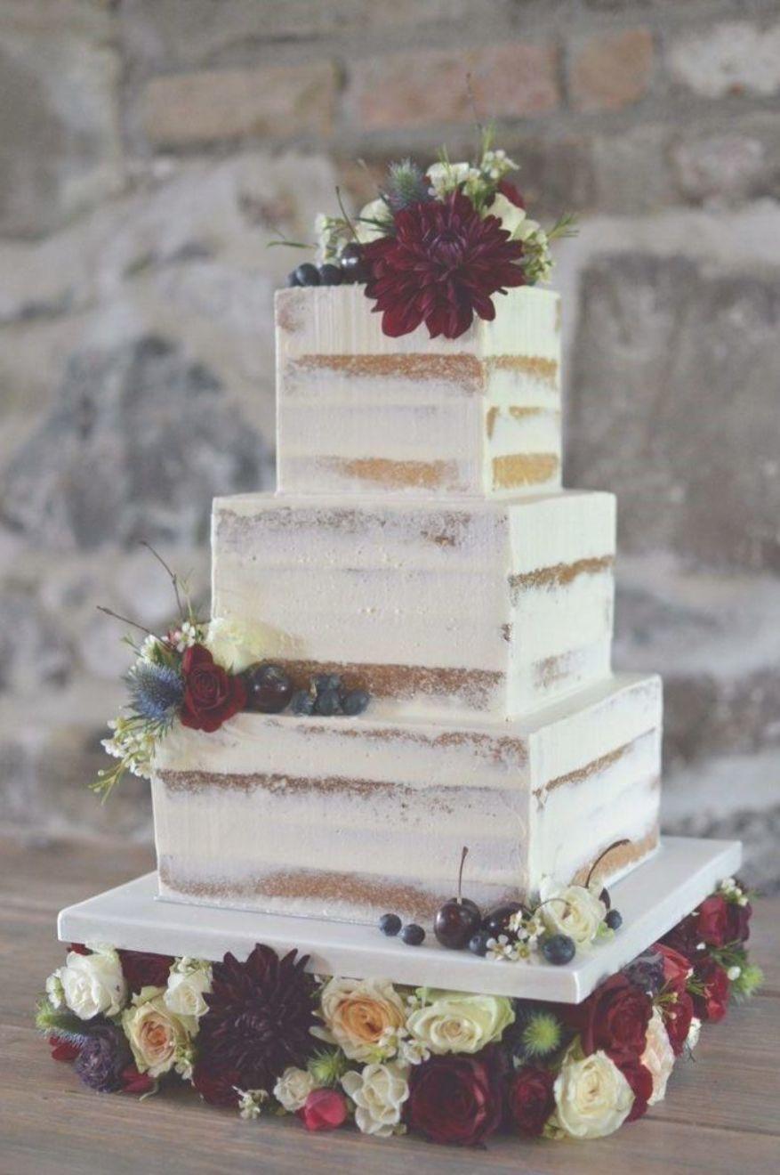 42 Square Wedding Cakes That Wow Weddingday Wedding Cake Images Winter Wedding Cake Simple Wedding Cake