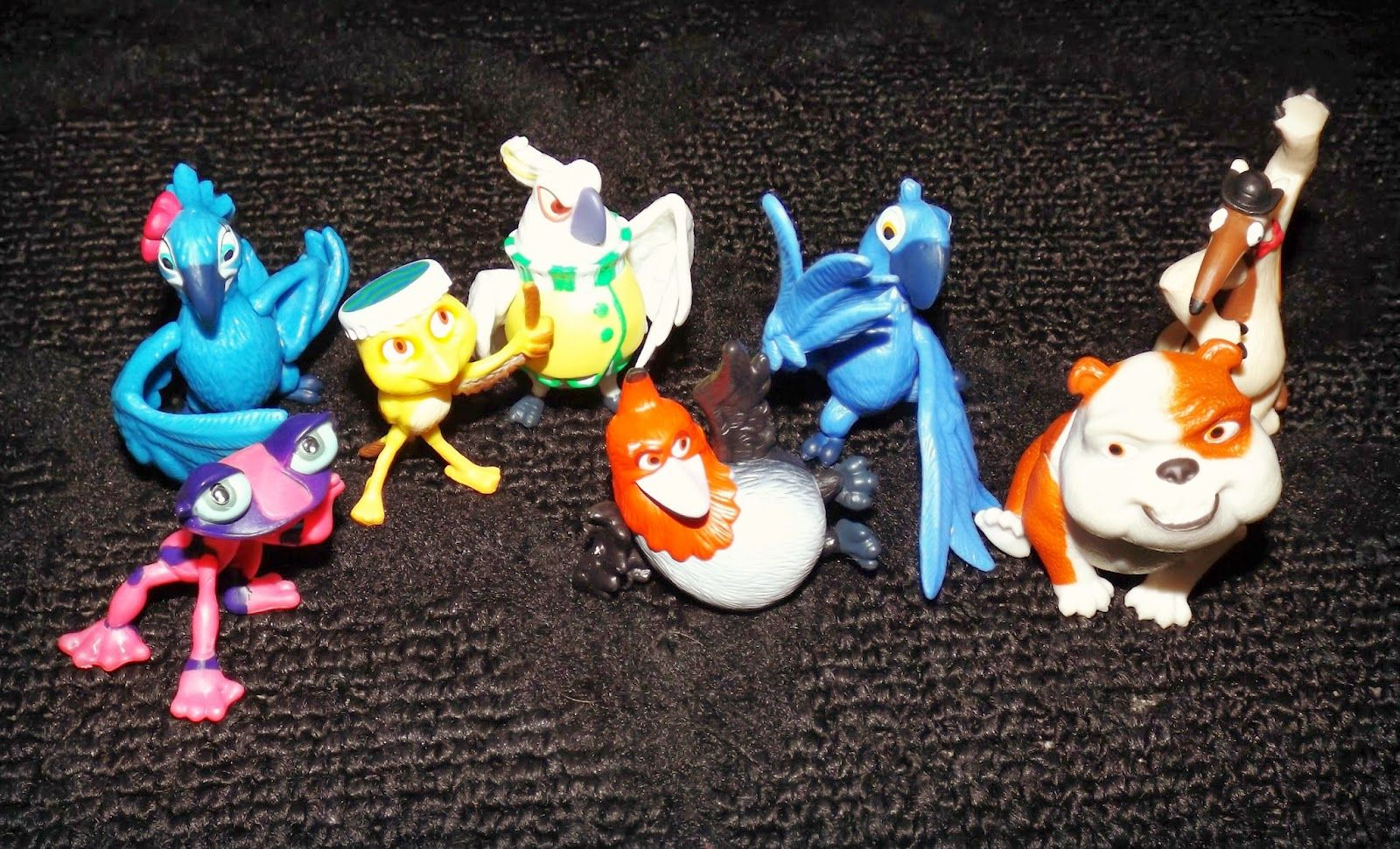 Rio 2 Movie Carnival Party Pack Mini Figures Set 8-pack Free shipping NEW