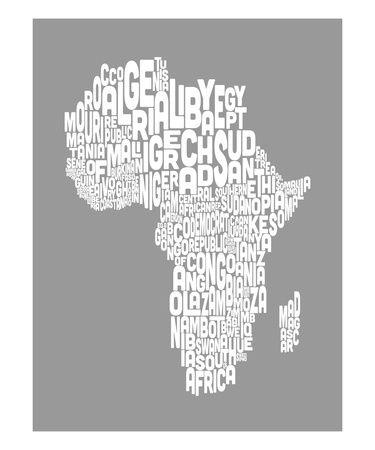 Michael tompsett map of africa map text artg 375450 rules map of africa map text art print inch 774 color by artpause gumiabroncs Images
