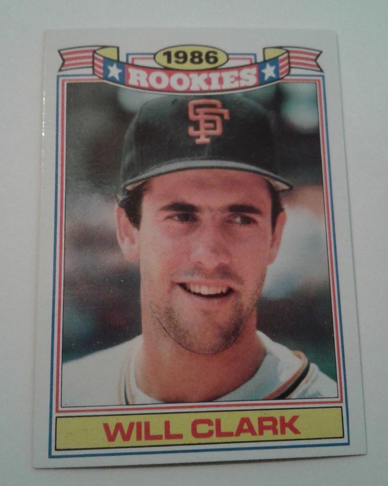 1987 Topps 86 Rookies Will Clark Rookie Card 4 Sfgiants