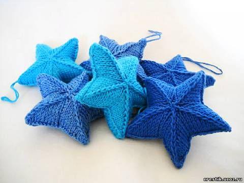 вязаная звезда новогоднее вязание рождественское вязание