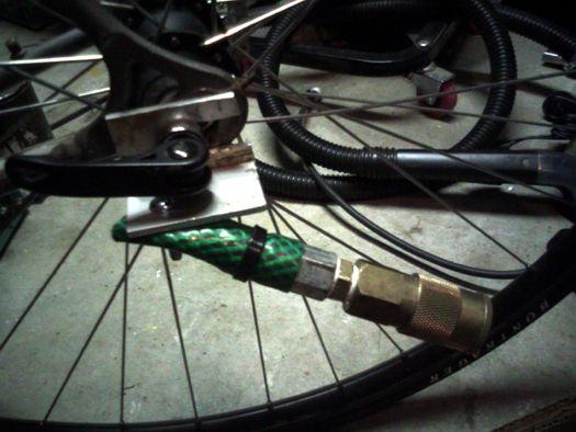 Diy Flexible Bike Trailer Tow Connection Using Garden Hose And