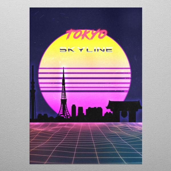 TOKYO by FARKI15 DESIGN | metal posters - Displate | Displate thumbnail
