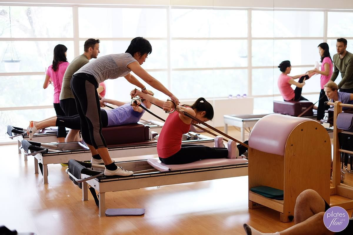 Karen spots Christina through the Rowing Series on the Reformer ...