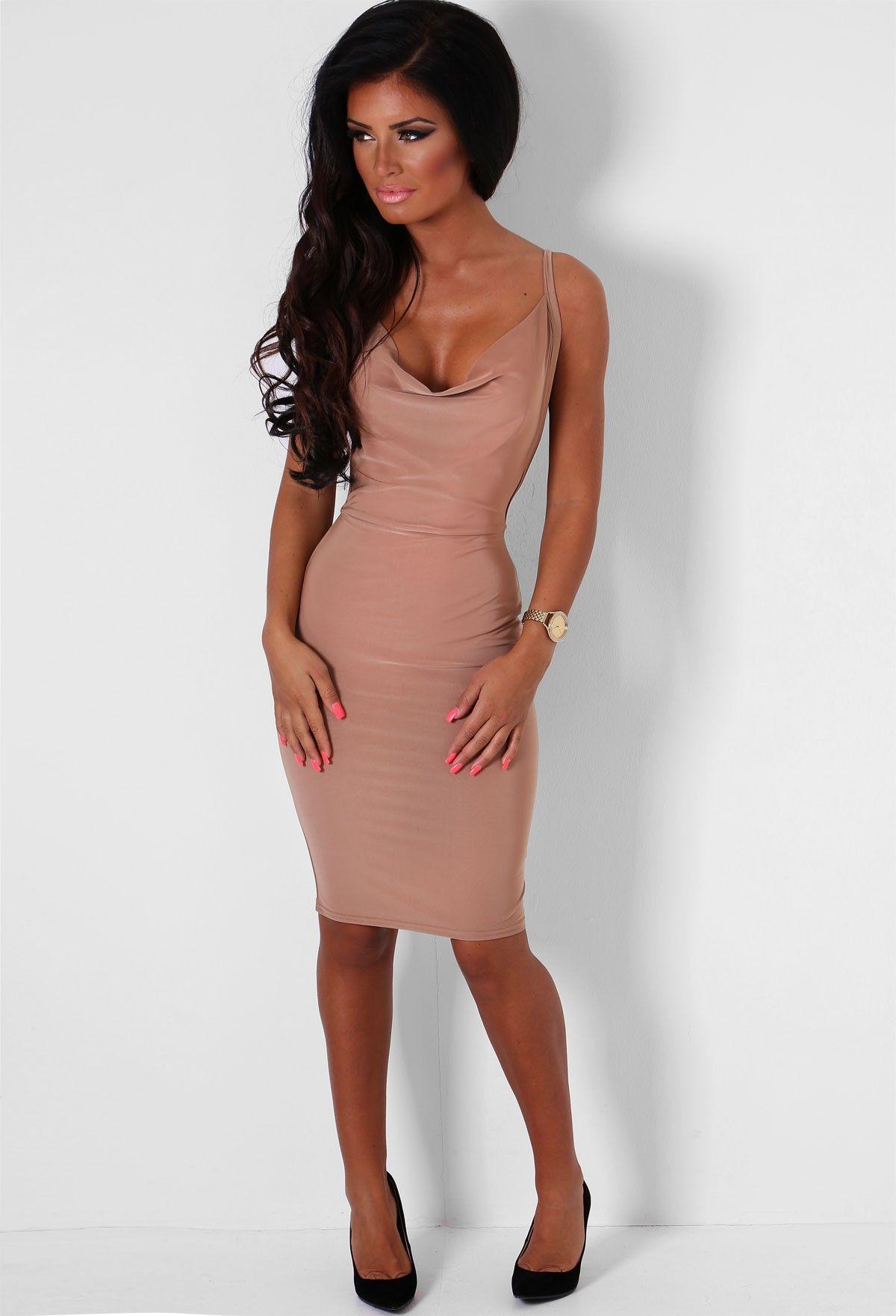 Nadia Mocha Backless Dress   Pink Boutique   Threds   Pinterest ...