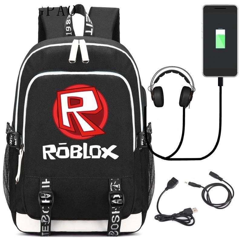 Roblox Backpack Free Robox Large Capacity Student Backpack Roblox Usb Charging Laptop Sleeve Student Bookbag School Bag Free Shipping Laptop Travel Bag Student Backpacks Backpacks