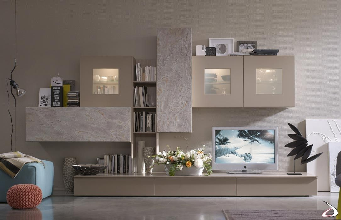 Parete soggiorno design in pietra Ziro | TopArredi ...