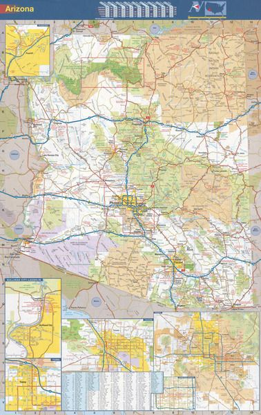 arizona wall map executive commercial edition wall maps on laminated wall maps id=88422
