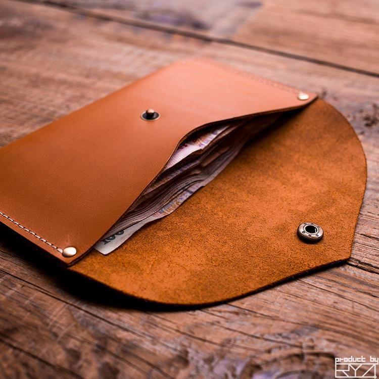 Handmade leather vintage women long wallet clutch phone purse wallet #leatherwallets