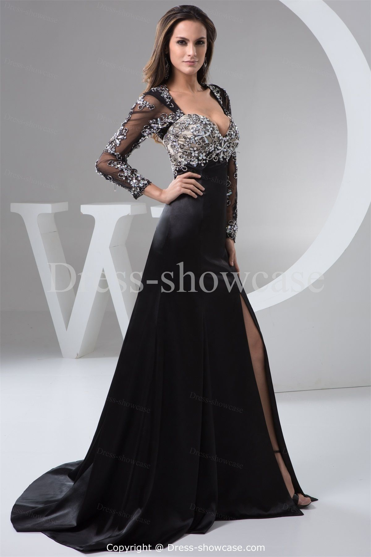 A-Line Wedding Guest Hourglass Long Sleeves Evening Dress -Special ...