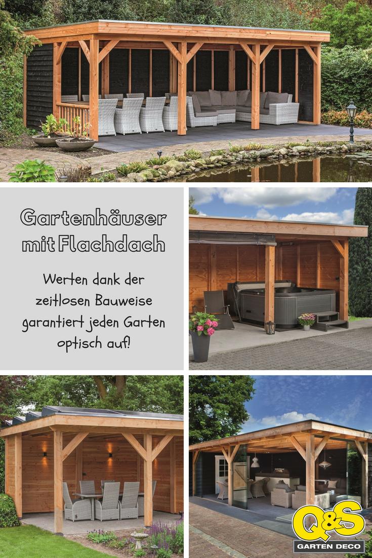 Gartenhäuser mit Flachdach bestechen durch die zeitlose