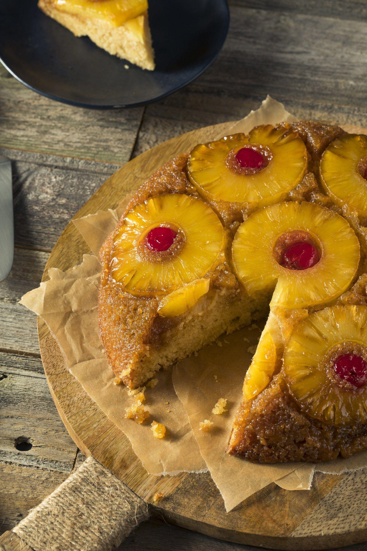 Pineapple upside down cake 1950s inspired recipe
