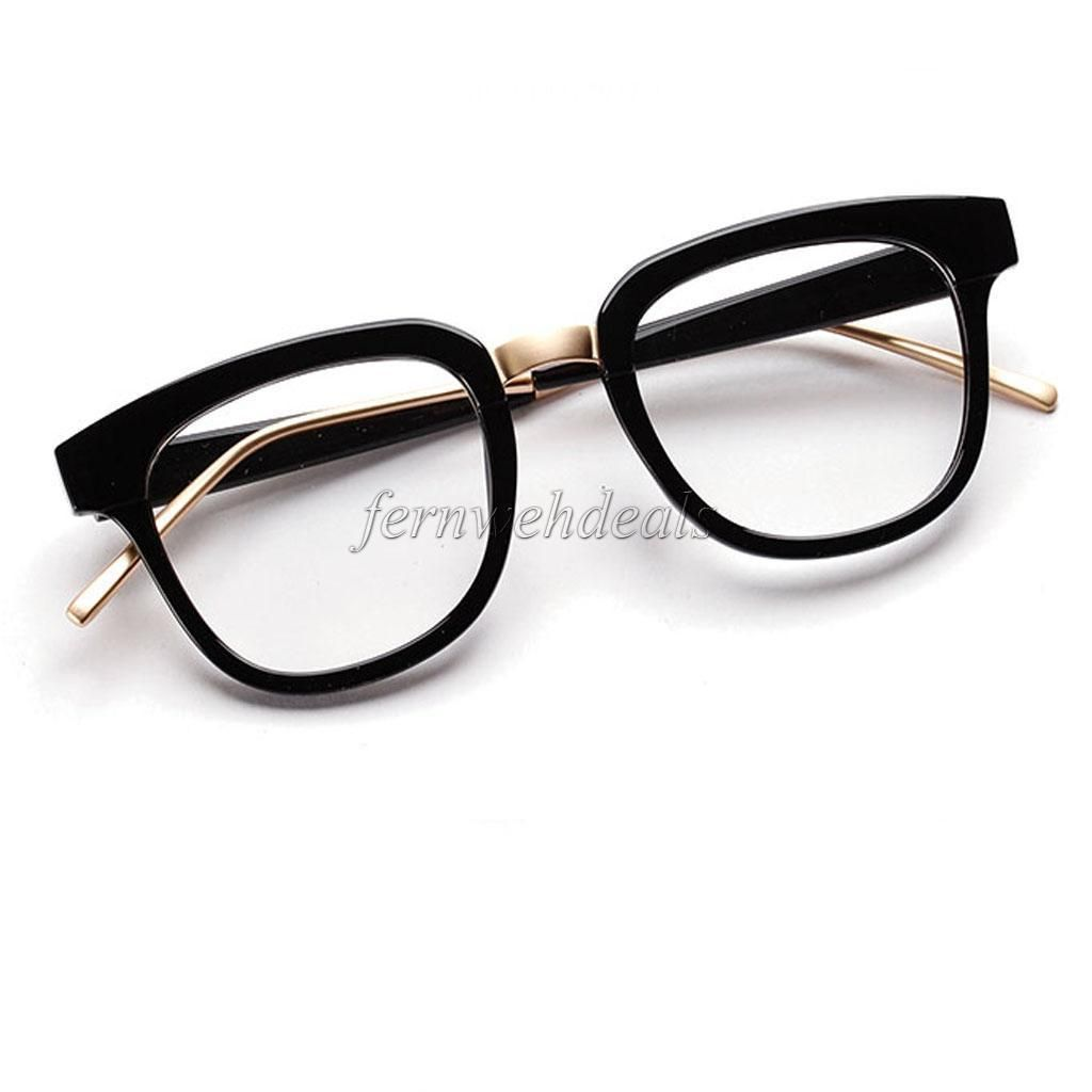9895387165e528  4.55 - Vintage Black Eyeglass Frame Clear Glasses Full Rim Retro Spectacles  Eyewear  ebay  Fashion