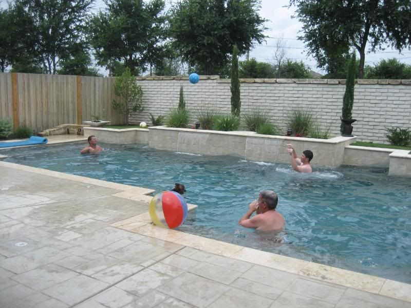 Pin By Mia Blake On Pool Renovation Inspiration Pool Volleyball Net Pool Landscaping Pool