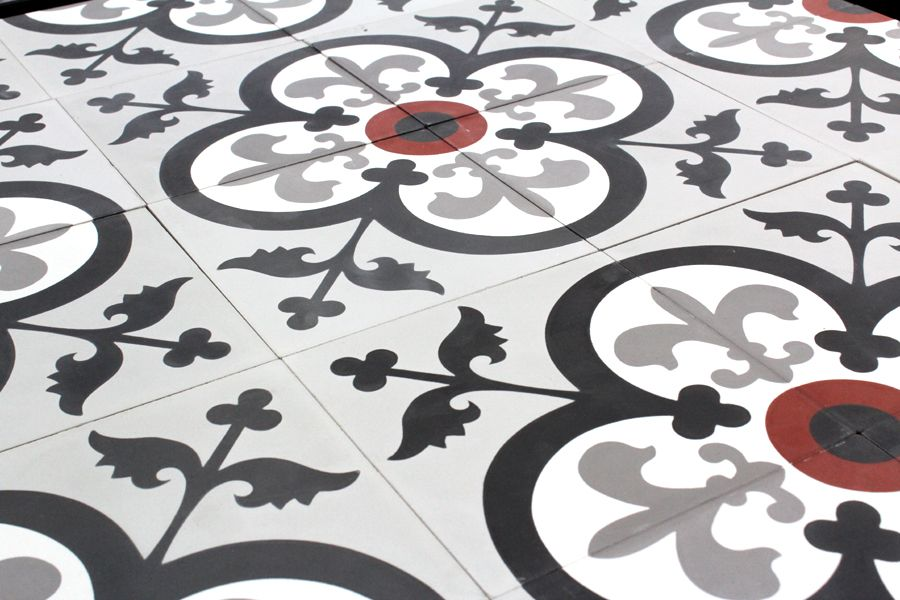 Carreau De Ciment Fleur De Lys Super Tendance Par Parquet Carrelage