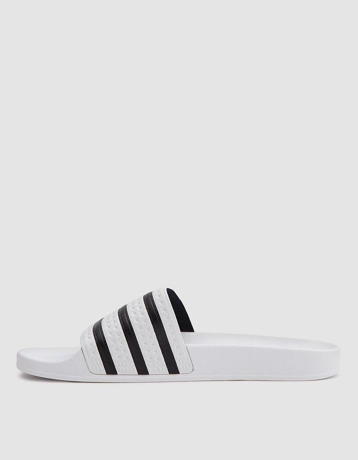 8bb6e01c39f6c9 ... best website 408db ecc14 Adidas-Adilette Sandal in White Slip-on sandal  from Adidas
