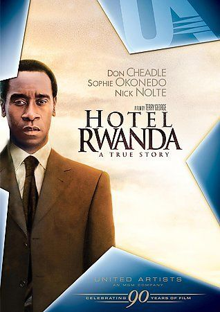 Hotel Rwanda [PN1997.2 .H684 2005] The deeply moving true story of a five-star-hotel manager who used his wits and words to save more than 1,200 lives during the 1994 Rwandan conflict.