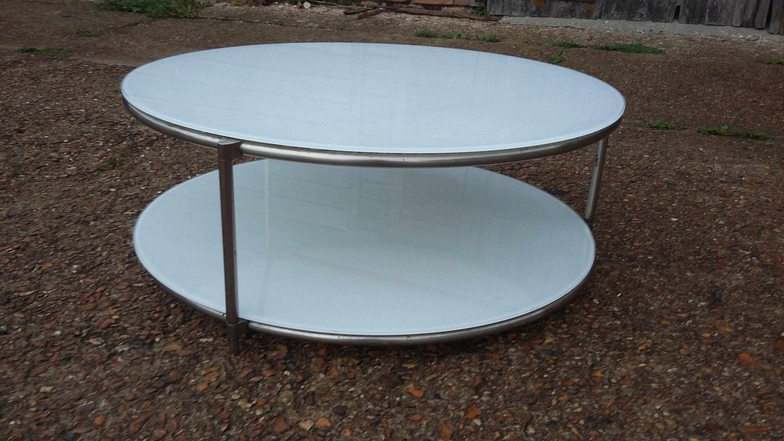 Retro 70s Style Glass Top Round Coffee Table Collection Only Etsy Round Coffee Table Coffee Table Glass Top [ 1687 x 3000 Pixel ]