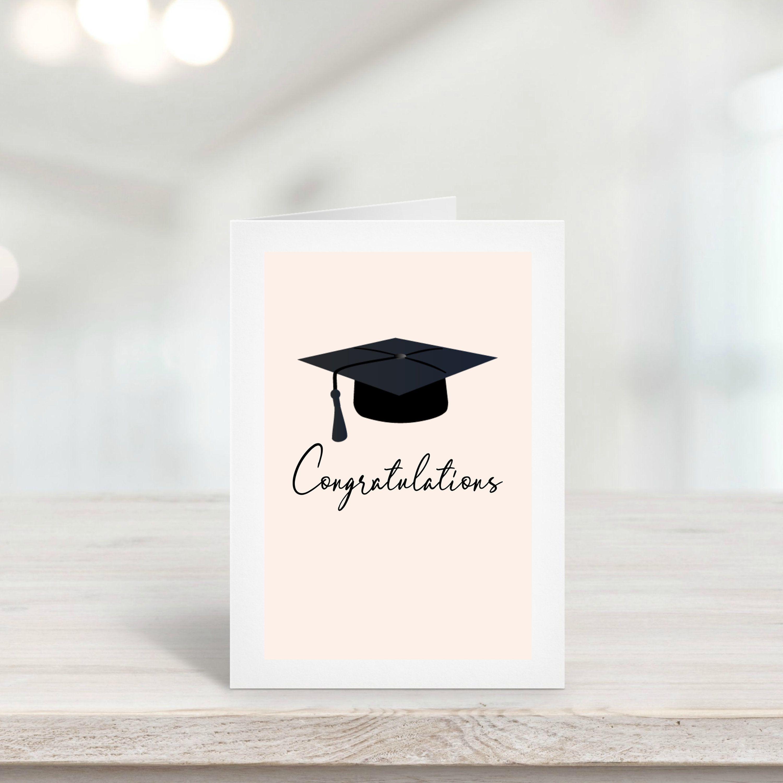 Graduation Card Template Congratulation Card Graduation Cap Simplistic Mo Congratulations Card Graduation Congratulations Graduate Graduation Card Templates