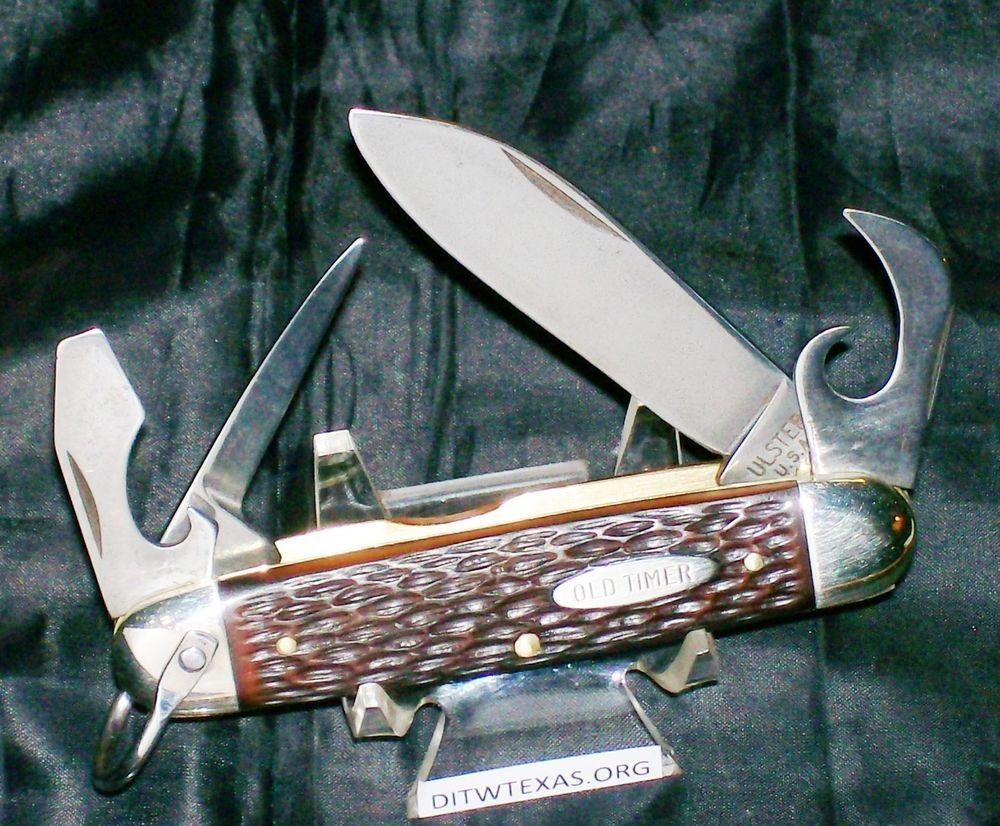 Ulster Knife 114 Ot Old Timer 1960 S Camper Utility