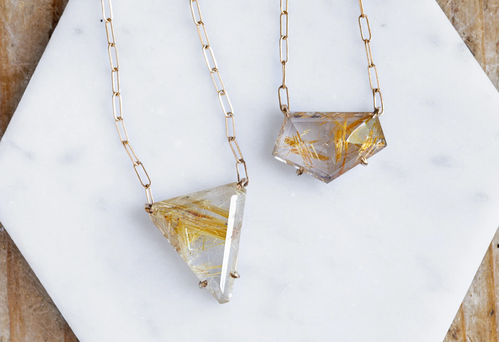 Custom Rutilated Quartz Necklace #quartznecklace