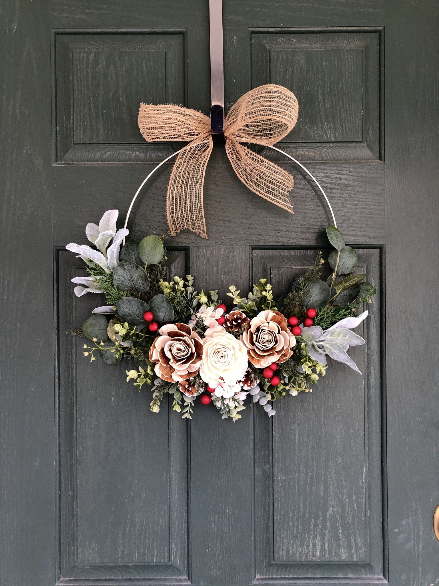 Photo of Christmas wreaths, Christmas wreaths for front door, Christmas Decor