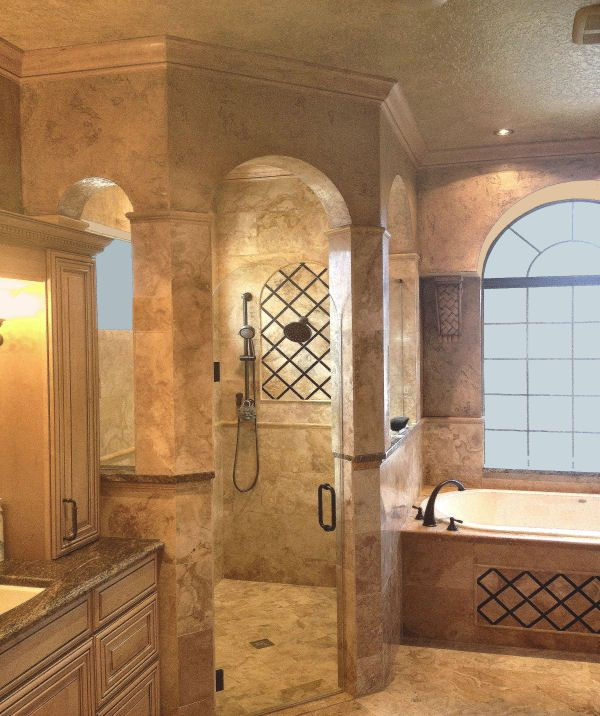 Bathroom remodels with doorless shower from cabinet - Doorless shower in small bathroom ...