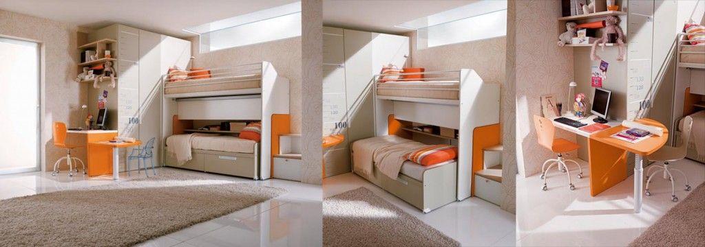 Camerette salvaspazio massimo e vittoria bunk beds for Arredare una cabina armadio
